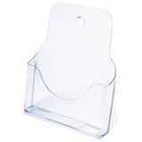 Подставка для рекламных материалов СТАММ настольная/<wbr/>настенная горизонтальная, формат А4, 235×98×270 мм, прозрачная