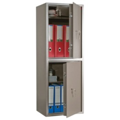 Сейф офисный AIKO «ТМ-120/<wbr/>2Т», 1200×440×355 мм, 54 кг, 2 отделения, ключевые замки, трейзер