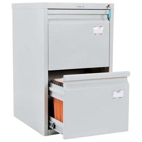 Шкаф картотечный ПРАКТИК «A-42», 685×408×485 мм, 2 ящика для 84 подвесных папок, без папок