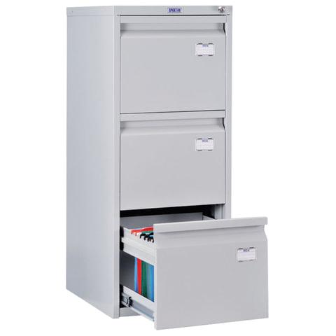 Шкаф картотечный ПРАКТИК «A-43», 995×408×485 мм, 3 ящика для 126 подвесных папок, без папок