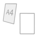 Рамка POS для ценников, рекламы и объявлений А4, прозрачная, без защитного экрана