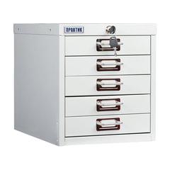 Шкаф металлический для документов ПРАКТИК «MDC-A4/<wbr/>315/<wbr/>5», 5 ящиков, 314×277×405 мм, собранный
