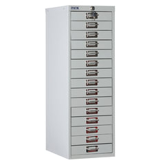 Шкаф металлический для документов ПРАКТИК «MDC-A4/<wbr/>910/<wbr/>15», 15 ящиков, 910×277×405 мм, собранный