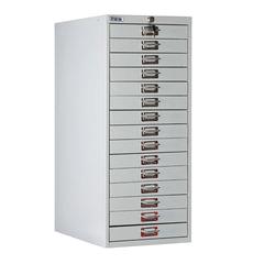 Шкаф металлический для документов ПРАКТИК «MDC-A3/<wbr/>910/<wbr/>15», 15 ящиков, 910×347×546 мм, собранный