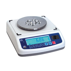 Весы лабораторные МАССА-К ВК-300.1 (0,2-300 г), дискретность 0,01 г, платформа диаметром 120 мм