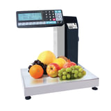 Весы-регистраторы с печатью этикеток МАССА-К МК-15.2-R2P10-1 (0,04-15 кг), дискретность 5 г, платформа 340×244 мм, стойка