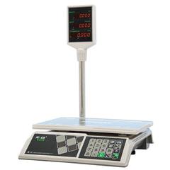 Весы торговые MERCURY M-ER 326ACP-32.5 LED (0,1-32 кг), дискретность 10 г, платформа 325×230 мм, со стойкой