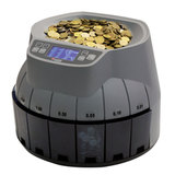 Счетчик-сортировщик монет CASSIDA Coin Master, 350 монет/<wbr/>мин., загрузка 3000 монет, 8 приемных лотков
