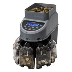 Счетчик-сортировщик монет CASSIDA Coin Max, 800 монет/<wbr/>мин., загрузка 1000 монет, 5 приемных лотков