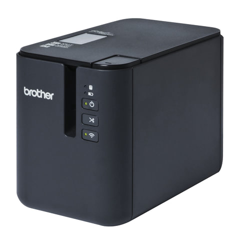 Принтер этикеток BROTHER PT-P900W, ширина ленты 3,5-36 мм, до 80 мм/сек., разрешение 360 т/дс, Wi-Fi