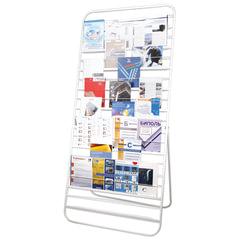 Стенд для рекламных материалов напольный 10П, 2000×500×900 мм, белый