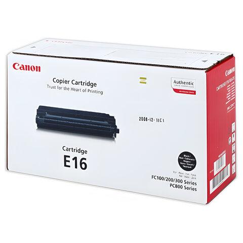 Картридж лазерный CANON (E-16) FC-108/128/PC750/880 и другие, оригинальный, ресурс 2000 стр.