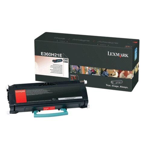 Тонер-картридж LEXMARK (E360H21E) E36x/<wbr/>460, оригинальный, ресурс 9000 страниц