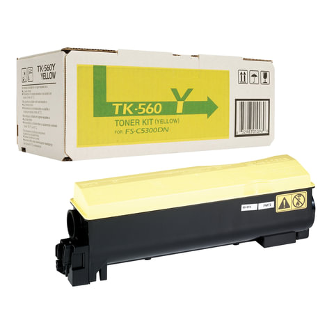 Тонер-картридж KYOCERA (TK-560Y) FS-C5300DN/5350DN, желтый, оригинальный, ресурс 10000 страниц