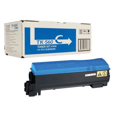Тонер-картридж KYOCERA (TK-560C) FS-C5300DN/<wbr/>5350DN, голубой, оригинальный, ресурс 10000 страниц