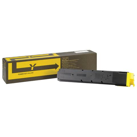 Тонер-картридж KYOCERA (TK-8600Y) FS-C8600DN/C8650DN, желтый, оригинальный, ресурс 20000 страниц