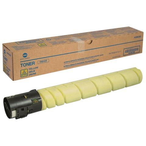 Тонер KONICA MINOLTA (TN-512Y) bizhub C454/<wbr/>C554, желтый, оригинальный, ресурс 26000 стр.