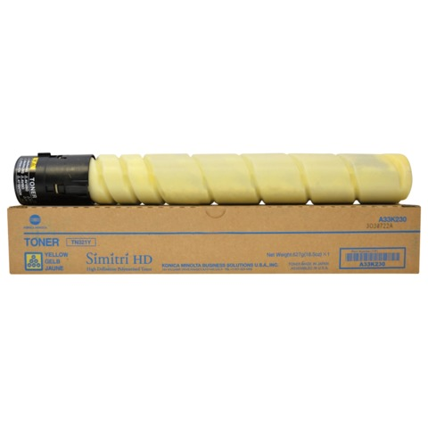 Тонер KONICA MINOLTA (TN-321Y) bizhub С224e/<wbr/>284e/<wbr/>364e, желтый, оригинальный, ресурс 25000 стр.