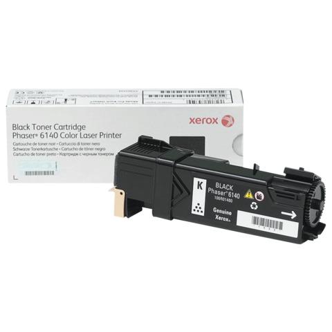 Тонер-картридж XEROX (106R01484) Color Phaser 6140, черный, оригинальный, ресурс 2600 стр.