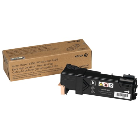 Тонер-картридж XEROX (106R01597) Phaser 6500/<wbr/>WC 6505, черный, оригинальный, ресурс 1000 стр.