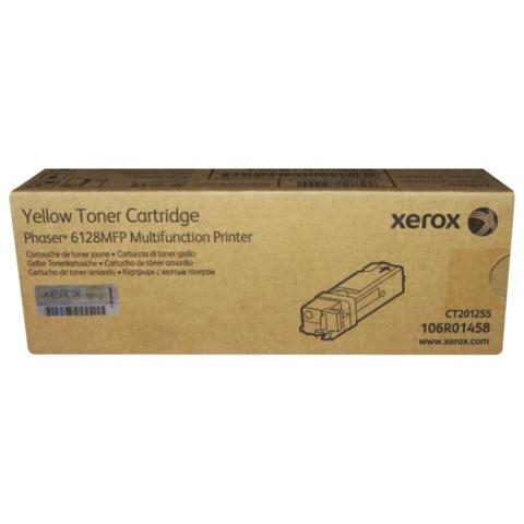 Тонер-картридж XEROX (106R01458) Phaser 6128MFP, желтый, оригинальный, ресурс 2500 стр.
