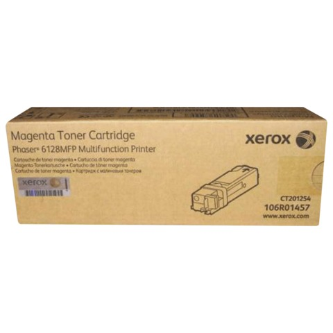 Тонер-картридж XEROX (106R01457) Phaser 6128MFP, пурпурный, оригинальный, ресурс 2500 стр.