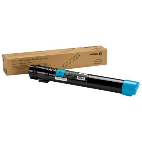 Тонер-картридж XEROX (106R01443) Color Phaser 7500, голубой, оригинальный, ресурс 17800 стр.