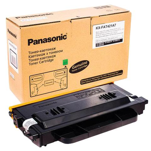 Тонер-картридж PANASONIC (KX-FAT421A7) MB2230/<wbr/>2270/<wbr/>2510, оригинальный, ресурс 2000 страниц