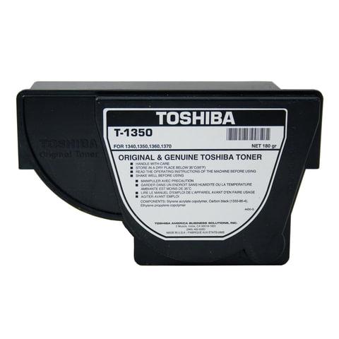 Тонер-картридж TOSHIBA (T1350E) 1340/<wbr/>1350/<wbr/>1360/<wbr/>1370, черный, оригинальный, ресурс 4300 стр.
