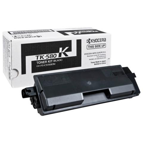 Тонер-картридж KYOCERA (TK-580K) FS-C5150DN/P6021CDN, черный, оригинальный, ресурс 5000 стр.