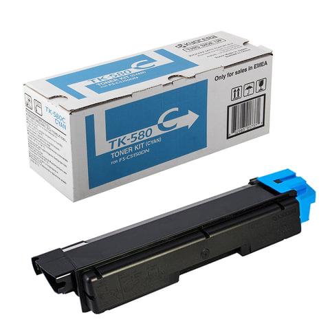 Тонер-картридж KYOCERA (TK-580C) FS-C5150DN/P6021CDN, голубой, оригинальный, ресурс 2800 стр.
