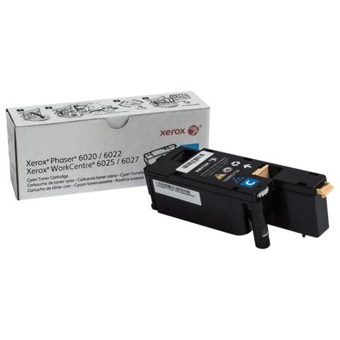 Тонер-картридж XEROX (106R02760) WC 6025/<wbr/>6027/<wbr/>Phaser 6020/<wbr/>6022, голубой, оригинальный, ресурс 1000 стр.