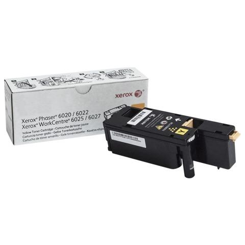 Тонер-картридж XEROX (106R02762) WC 6025/6027/Phaser 6020/6022, желтый, оригинальный, ресурс 1000 стр.