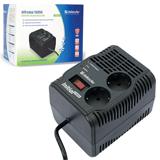 Стабилизатор напряжения DEFENDER AVR Initial 1000, 320 Вт, входное напряжение 175-275 В, 2 розетки, черный