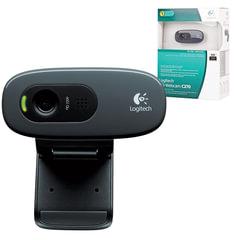 Веб-камера LOGITECH C270, 1/<wbr/>3 Мпикс., микрофон, USB 2.0, черная, регулируемый крепеж