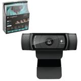 Веб-камера LOGITECH HD Pro Webcam C920, 2 Мпикс, микрофон, USB 2.0, черная, автофокус