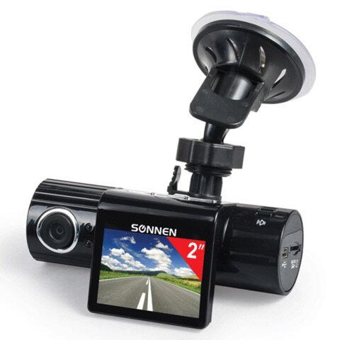 Видеорегистратор автомобильный SONNEN DVR-330, HD, 120°, экран 2'', microSD