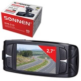 Видеорегистратор автомобильный SONNEN DVR-310, HD, 120°, экран 2,7'', G-сенсор, microSDHC, AV