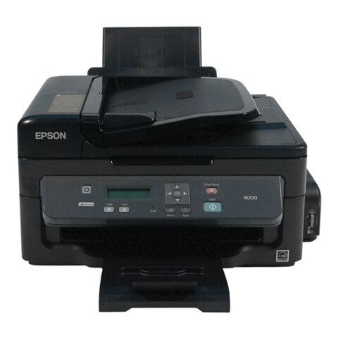 МФУ струйное монохромное EPSON M200 (принтер, копир, сканер), A4, 1440x720, 34 стр./мин., СНПЧ, АПД, сетевая карта