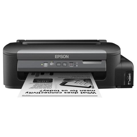 Принтер струйный монохромный EPSON M105, A4, 1440x720, 34 стр./мин., СНПЧ, Wi-Fi, без кабеля USB