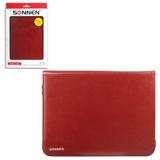 """Чехол-обложка для планшетного ПК универсальный 9""""-10,1"""" SONNEN, кожзаменитель, 275×190×25 мм, коричневый"""