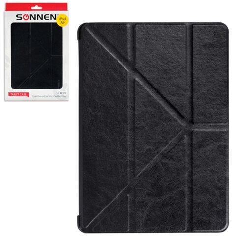Чехол-обложка для планшетного ПК iPad Air SONNEN, кожзаменитель, подставка, черный
