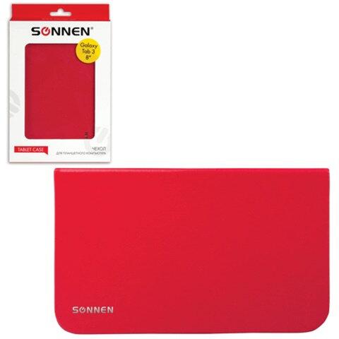 """Чехол-обложка для планшетного ПК Samsung Galaxy Tab 3 8"""" SONNEN, кожзаменитель, красный"""