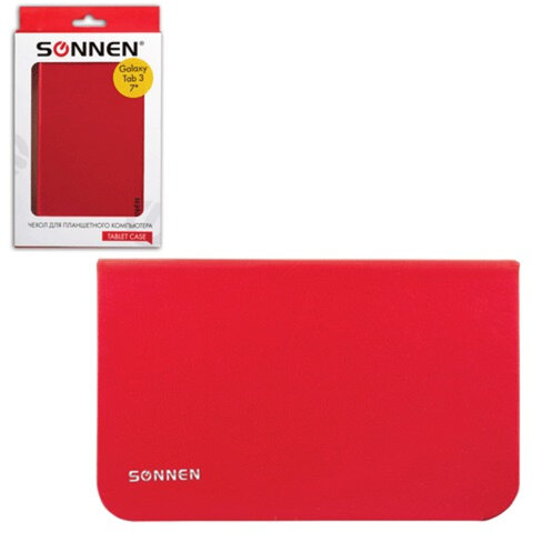 """Чехол-обложка для планшетного ПК Samsung Galaxy Tab 3 7"""" SONNEN, кожзаменитель, красный"""