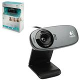 Веб-камера LOGITECH C310, 5 Мпикс., микрофон, USB 2.0, черная, регулируемое крепление