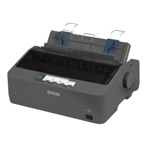Принтер матричный EPSON LX-350 (9 игольный), А4, 347 знаков/<wbr/>сек, 4 млн/<wbr/>символов, USB, LPT, COM