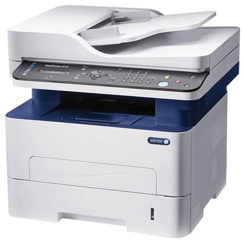 МФУ лазерное XEROX WorkCentre 3215NI (принтер, копир, сканер, факс), А4, 26 стр./мин, 30000 стр./мес, Wi-Fi, с/к (каб USB в компл)