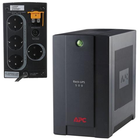 Источник бесперебойного питания APC BC500-RS, 500 VA (300 W), 4 розетки (3 UPS + 1 фильтр)