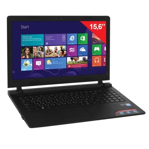 "Ноутбук LENOVO 100-15IBY, 15,6"", INTEL Pentium N3540, 2,16 ГГц, 2 Гб, 250 Гб, DVD-RW, Windows 10, черный"