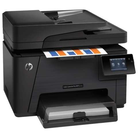 МФУ лазерное ЦВЕТНОЕ HP LaserJet Pro M177fw (принтер, копир, сканер, факс), А4, 16 стр./мин, 20000 стр./мес., АПД, с/к, Wi-Fi